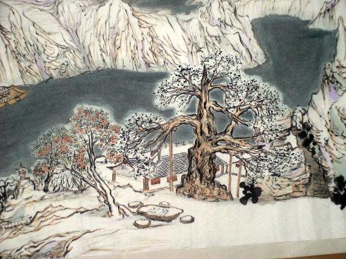 窗含西岭千秋雪