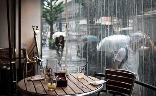 适合下雨天发的朋友圈